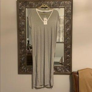 ZARA Striped MIDI Dress